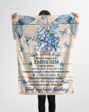 """FAM10120BL - Feel My Heart Breaking Small Fleece Blanket - 30"""" x 40"""" aos-coral-fleece-blanket-30x40-lifestyle-front-14"""