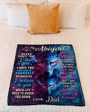 """BL10056N - To My Abigail Dad Letter Small Fleece Blanket - 30"""" x 40"""" aos-coral-fleece-blanket-30x40-lifestyle-front-04"""