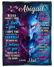 """BL10056N - To My Abigail Dad Letter Small Fleece Blanket - 30"""" x 40"""" front"""