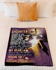 """Jes10083 - Daughter Designed By God Small Fleece Blanket - 30"""" x 40"""" aos-coral-fleece-blanket-30x40-lifestyle-front-04"""