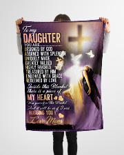 """Jes10083 - Daughter Designed By God Small Fleece Blanket - 30"""" x 40"""" aos-coral-fleece-blanket-30x40-lifestyle-front-14"""