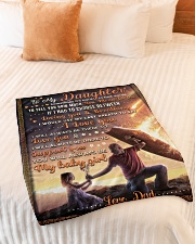 """BL10052 - To My Daughter Dad With Love Small Fleece Blanket - 30"""" x 40"""" aos-coral-fleece-blanket-30x40-lifestyle-front-01"""