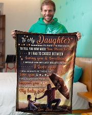 """BL10052 - To My Daughter Dad With Love Small Fleece Blanket - 30"""" x 40"""" aos-coral-fleece-blanket-30x40-lifestyle-front-09"""
