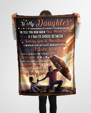 """BL10052 - To My Daughter Dad With Love Small Fleece Blanket - 30"""" x 40"""" aos-coral-fleece-blanket-30x40-lifestyle-front-14"""