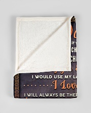 """BL10052 - To My Daughter Dad With Love Small Fleece Blanket - 30"""" x 40"""" aos-coral-fleece-blanket-30x40-lifestyle-front-17"""