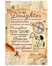 CV10008 - To My Daughter Old Postcard Mom Letter 11x17 Poster front