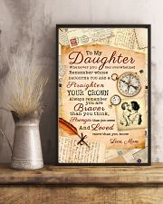 CV10008 - To My Daughter Old Postcard Mom Letter 11x17 Poster lifestyle-poster-3