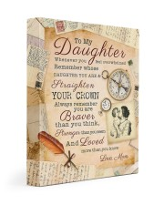 CV10008 - To My Daughter Old Postcard Mom Letter Gallery Wrapped Canvas Prints tile