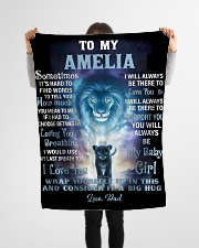 """FBC10007N - To My Amelia Lion Dad Letter Small Fleece Blanket - 30"""" x 40"""" aos-coral-fleece-blanket-30x40-lifestyle-front-14"""