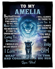 """FBC10007N - To My Amelia Lion Dad Letter Small Fleece Blanket - 30"""" x 40"""" front"""