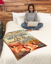 """BL10066 - To My Daughter Mom Letter Small Fleece Blanket - 30"""" x 40"""" aos-coral-fleece-blanket-30x40-lifestyle-front-08"""