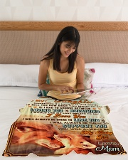 """BL10066 - To My Daughter Mom Letter Small Fleece Blanket - 30"""" x 40"""" aos-coral-fleece-blanket-30x40-lifestyle-front-12"""