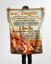 """BL10066 - To My Daughter Mom Letter Small Fleece Blanket - 30"""" x 40"""" aos-coral-fleece-blanket-30x40-lifestyle-front-14"""