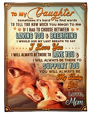 """BL10066 - To My Daughter Mom Letter Small Fleece Blanket - 30"""" x 40"""" front"""