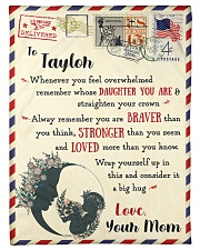 """FBL10021J To Taylor Love Mom Letter Family Small Fleece Blanket - 30"""" x 40"""" front"""