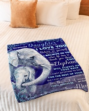 """BL10020 - Beloved Daughter Elephant Christmas Small Fleece Blanket - 30"""" x 40"""" aos-coral-fleece-blanket-30x40-lifestyle-front-01"""