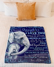 """BL10020 - Beloved Daughter Elephant Christmas Small Fleece Blanket - 30"""" x 40"""" aos-coral-fleece-blanket-30x40-lifestyle-front-04"""
