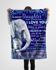 """BL10020 - Beloved Daughter Elephant Christmas Small Fleece Blanket - 30"""" x 40"""" aos-coral-fleece-blanket-30x40-lifestyle-front-14"""