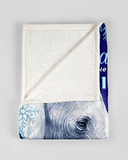 """BL10020 - Beloved Daughter Elephant Christmas Small Fleece Blanket - 30"""" x 40"""" aos-coral-fleece-blanket-30x40-lifestyle-front-17"""