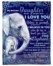 "BL10020 - Beloved Daughter Elephant Christmas Small Fleece Blanket - 30"" x 40"" front"