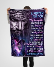 """JES10058BL -  A Prayer For Daughter Small Fleece Blanket - 30"""" x 40"""" aos-coral-fleece-blanket-30x40-lifestyle-front-14"""