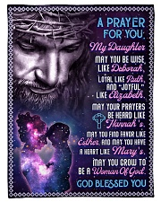 """JES10058BL -  A Prayer For Daughter Small Fleece Blanket - 30"""" x 40"""" front"""