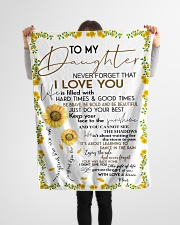 """FBC10009 - To My Daughter Sunflower Small Fleece Blanket - 30"""" x 40"""" aos-coral-fleece-blanket-30x40-lifestyle-front-14"""
