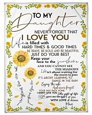 """FBC10009 - To My Daughter Sunflower Small Fleece Blanket - 30"""" x 40"""" front"""