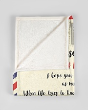"""FBL10052 To My Grandson Letter Family Small Fleece Blanket - 30"""" x 40"""" aos-coral-fleece-blanket-30x40-lifestyle-front-17"""