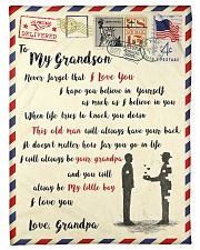 """FBL10052 To My Grandson Letter Family Small Fleece Blanket - 30"""" x 40"""" front"""