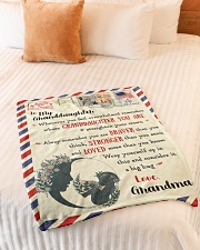 """BL10023 - To My Granddaughter Letter Family Small Fleece Blanket - 30"""" x 40"""" aos-coral-fleece-blanket-30x40-lifestyle-front-01"""
