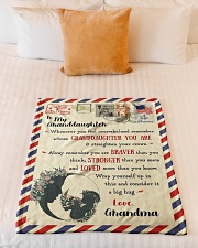 """BL10023 - To My Granddaughter Letter Family Small Fleece Blanket - 30"""" x 40"""" aos-coral-fleece-blanket-30x40-lifestyle-front-04"""