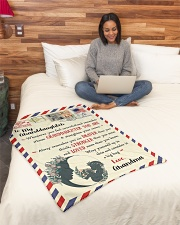 """BL10023 - To My Granddaughter Letter Family Small Fleece Blanket - 30"""" x 40"""" aos-coral-fleece-blanket-30x40-lifestyle-front-08"""