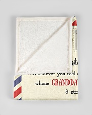 """BL10023 - To My Granddaughter Letter Family Small Fleece Blanket - 30"""" x 40"""" aos-coral-fleece-blanket-30x40-lifestyle-front-17"""
