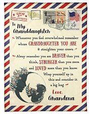 """BL10023 - To My Granddaughter Letter Family Small Fleece Blanket - 30"""" x 40"""" front"""