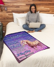 "BL10083 - To Granddaughter Love Grandma Unicorn Small Fleece Blanket - 30"" x 40"" aos-coral-fleece-blanket-30x40-lifestyle-front-08"