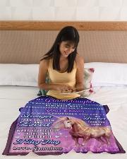 "BL10083 - To Granddaughter Love Grandma Unicorn Small Fleece Blanket - 30"" x 40"" aos-coral-fleece-blanket-30x40-lifestyle-front-12"