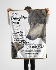"""FBC10004 - Wolf To My Daughter Never Forget Small Fleece Blanket - 30"""" x 40"""" aos-coral-fleece-blanket-30x40-lifestyle-front-14"""