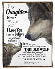 """FBC10004 - Wolf To My Daughter Never Forget Small Fleece Blanket - 30"""" x 40"""" front"""