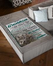 "FBC10034 - To My Grandson Small Fleece Blanket - 30"" x 40"" aos-coral-fleece-blanket-30x40-lifestyle-front-03"
