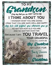"FBC10034 - To My Grandson Small Fleece Blanket - 30"" x 40"" front"