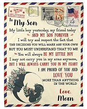 """FBL10071 To My Son Love Mom Letter Family Small Fleece Blanket - 30"""" x 40"""" front"""