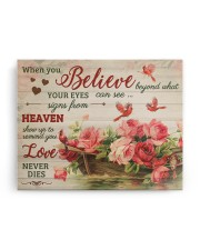 FAM10125CV - When You Believe Love Never Dies 14x11 Gallery Wrapped Canvas Prints aos-canvas-pgw-14x11-ghosted-front-02