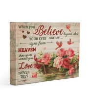 FAM10125CV - When You Believe Love Never Dies 14x11 Gallery Wrapped Canvas Prints front