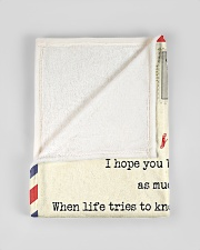 """FBL10013C - To Liam Dad Letter Family Small Fleece Blanket - 30"""" x 40"""" aos-coral-fleece-blanket-30x40-lifestyle-front-17"""