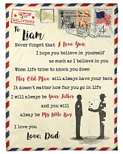 """FBL10013C - To Liam Dad Letter Family Small Fleece Blanket - 30"""" x 40"""" front"""
