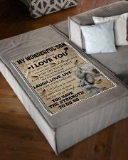 "FBC10026 - Wonderful Son Small Fleece Blanket - 30"" x 40"" aos-coral-fleece-blanket-30x40-lifestyle-front-03"