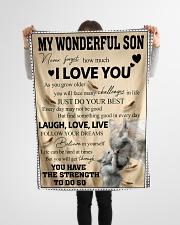 "FBC10026 - Wonderful Son Small Fleece Blanket - 30"" x 40"" aos-coral-fleece-blanket-30x40-lifestyle-front-14"