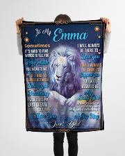"""BL10048N - To My Emma Dad Letter Lion Small Fleece Blanket - 30"""" x 40"""" aos-coral-fleece-blanket-30x40-lifestyle-front-14"""