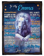 """BL10048N - To My Emma Dad Letter Lion Small Fleece Blanket - 30"""" x 40"""" front"""